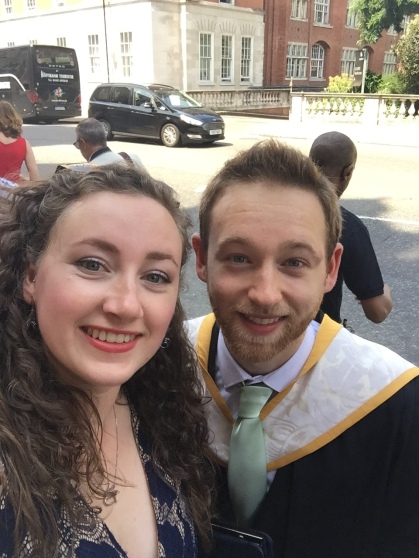 Graduating from the Royal College of Music, supported by fiancee Daisy