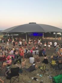 Relaxing at Over Farm, Gloucester - Barn on the Farm Festival 2018