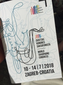Programme for the World Saxophone Congress 2018